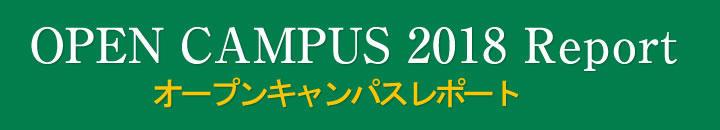オープンキャンパス2018レポート